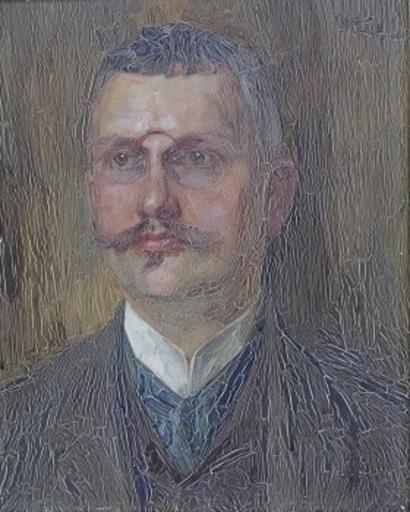Wilhelm TRÜBNER - Painting - Portrait des Geheimrates Franz Rieffel