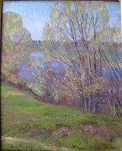Boris Israelewitsch ANISFELD - Pittura - LAKE ON MICHIGAN