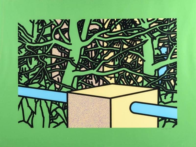 Patrick CAULFIELD - Print-Multiple - Garden with Pines