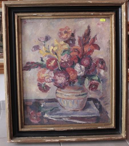 Nicolae DARASCU - Painting - Vase aux fleurs
