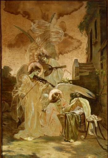 Luc Olivier MERSON - Painting - LE CONCERT DES ANGES