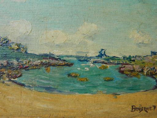 Georges BOUSQUET - Painting - PAYSAGE DE BRETAGNE
