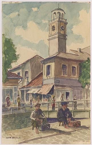 """Robert SKALA - Zeichnung Aquarell - """"Motif of Adria"""", Watercolor, 1920s"""
