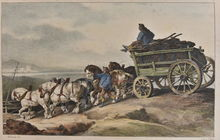 Théodore GÉRICAULT - Estampe-Multiple - Le Chariot de Charbon - The Coal Wagon