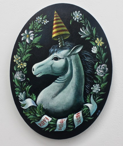Damir MURATOV - Painting - Happy Birthday Unicorn