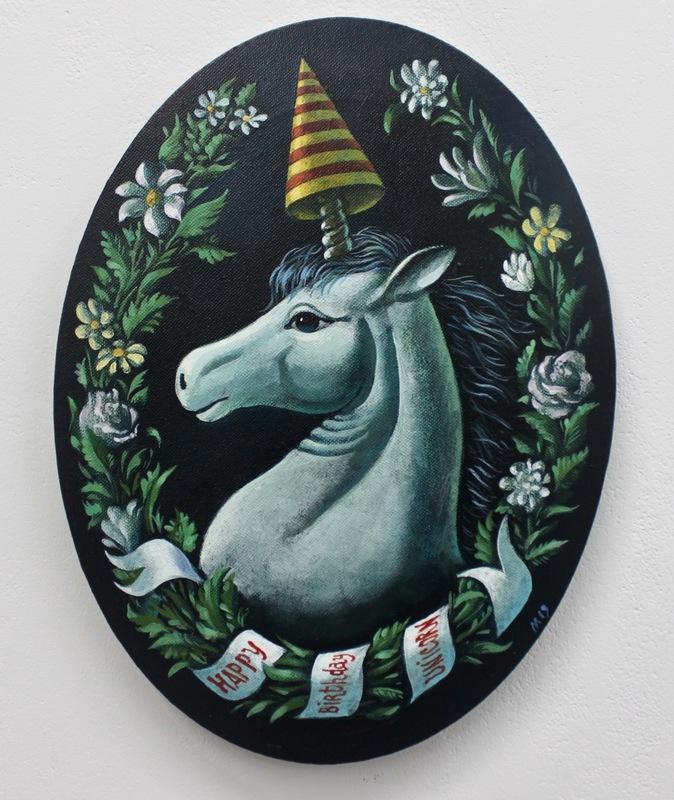 Damir MURATOV - Painting - Happy Birthday Unicorn