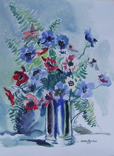 Antonio HEREDERO GUZMAN - Disegno Acquarello - flores