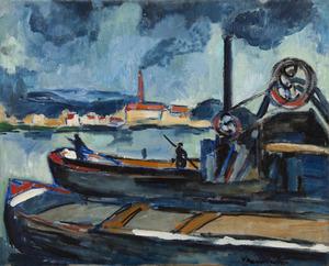 Maurice DE VLAMINCK - Peinture - La Seine à Chatou