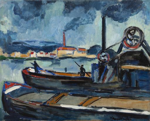 Maurice DE VLAMINCK - Pittura - La Seine à Chatou