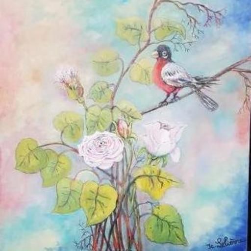 Jean-Claude LELIEVRE - Peinture - un air de printemps