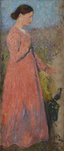 Henri MARTIN - Peinture - Femme en rose