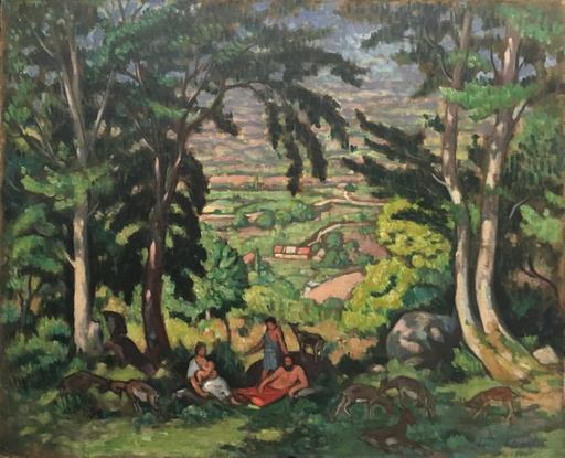 Louis CHARLOT - Gemälde - Paysage bucolique