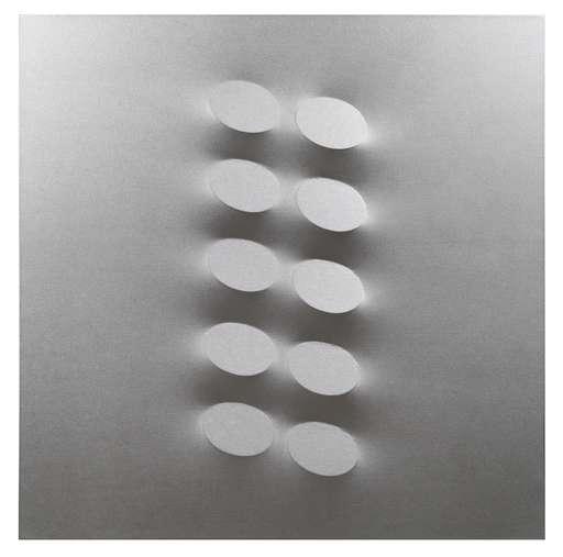 Turi SIMETI - Gemälde - 10 ovali argento