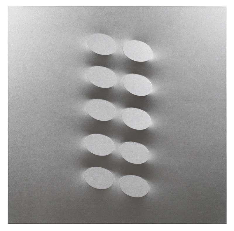 Turi SIMETI - Pintura - 10 ovali argento