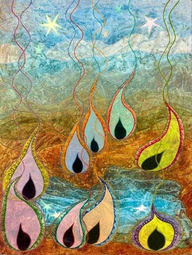 Elvic STEELE - Painting - The Nine Muses