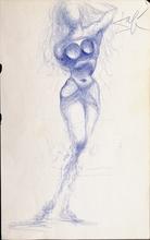 萨尔瓦多·达利 - 水彩作品 - Nu féminin / Costumes de l'an 2000