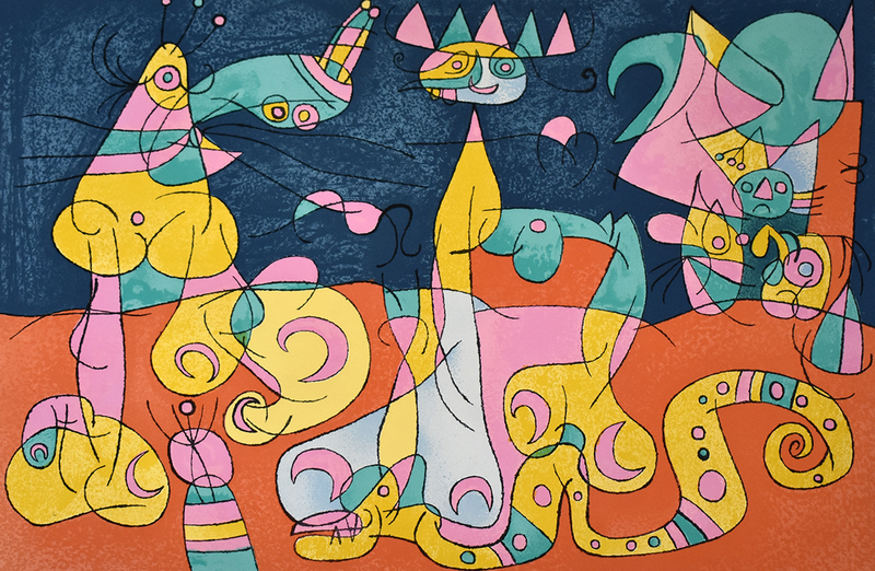 Joan MIRO - Print-Multiple - The Review III