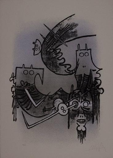 维夫里多•拉姆 - 版画 - Le feu vert