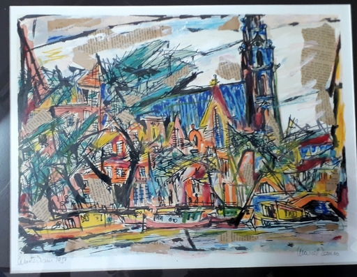 Marcel JANCO - Drawing-Watercolor - Amsterdam