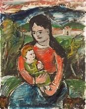 Franz VON ZÜLOW - Painting - Mutter mit Kind