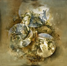 Roger SURAUD - Peinture - METEORITE