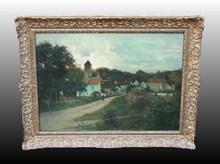 Joseph Paul MESLÉ - Pintura - Rue de la Marne à Chamigny