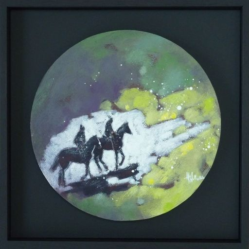 Anne Christine WELLENSTEIN - Peinture - Au bout de la piste