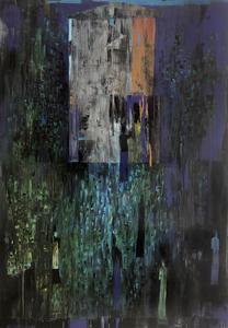 Reza DERAKSHANI - Gemälde - Moon light garden party