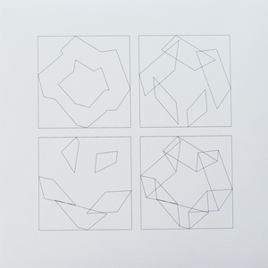 Véra MOLNAR - Print-Multiple - 3 pliages, 4 façons D, Nr. 4