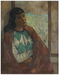 Pedro PRUNA OCERANS - 绘画 - Arlequin en la ventana