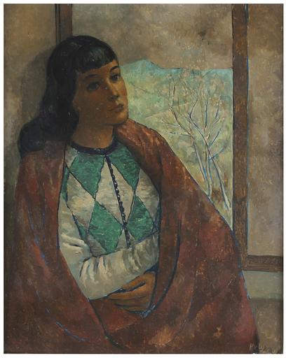 Pedro PRUNA OCERANS - Painting - Arlequin en la ventana