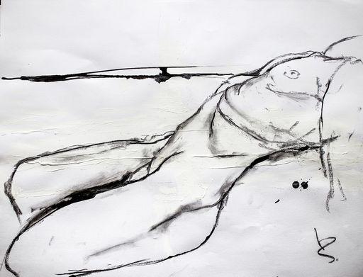 Guillaume KALT - Dibujo Acuarela - Cambrure    (Cat N° 6147)