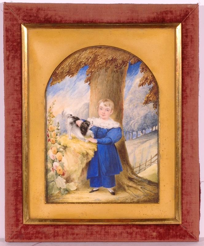 Frederick HARDING - Miniatura - Large Portrait Miniature