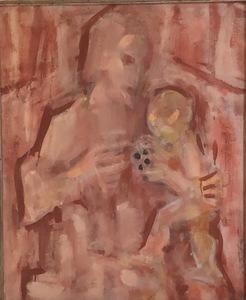 """Pere GASTO VILANOVA - Pittura - """"Maternidad"""""""