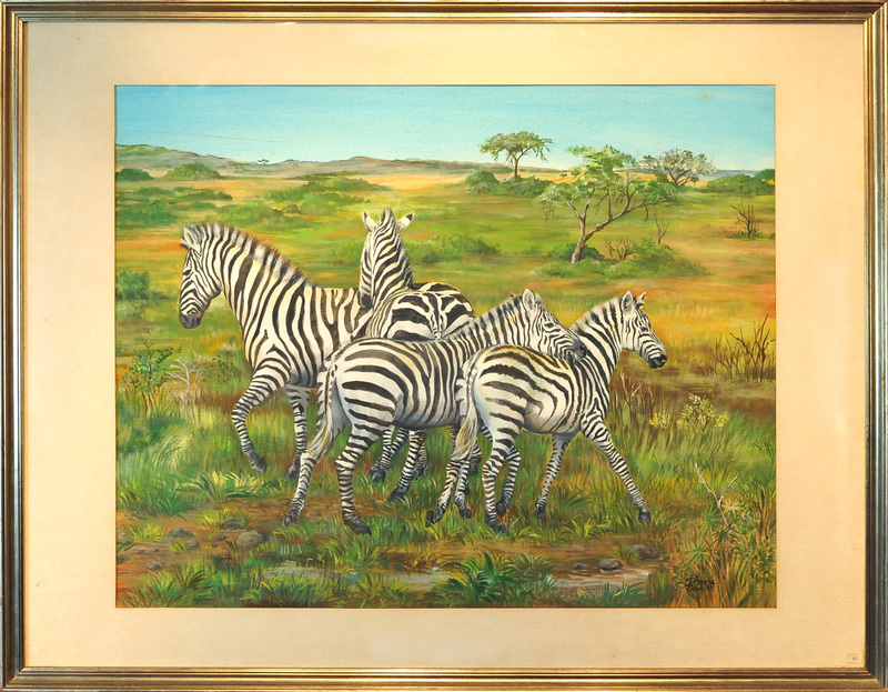Simone ERNI - Dibujo Acuarela - Zebre