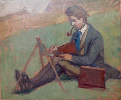 Maurice Georges PONCELET - Painting - Souvenir des bonnes journées de 1921 à Chelles