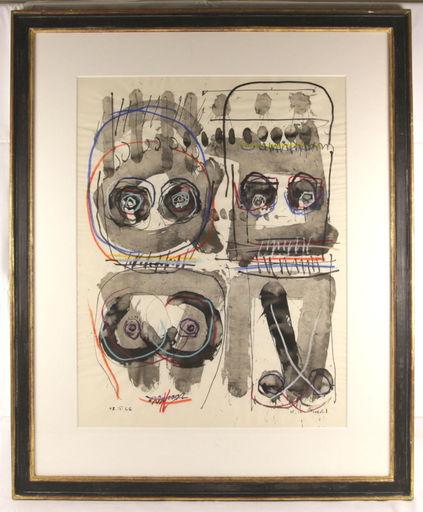 Walter L. BRENDEL - Peinture - Informelle Komposition 1966