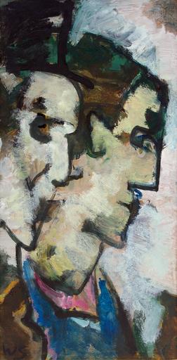 Werner SCHOLZ - Painting - Betende Frauen in Villanders