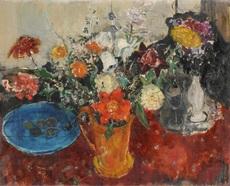 Adolf HERBST - Painting - Stilleben mit Blumenstrauss