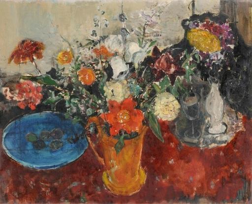 Adolf HERBST - Gemälde - Stilleben mit Blumenstrauss