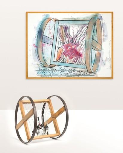 Dennis OPPENHEIM - Sculpture-Volume - STUDY FOR ROLLING EXPLOSION