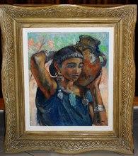 Henri Jean PONTOY - Pintura - Portrait de jeune femme à la cruche