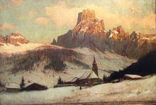 Karl Ludwig PRINZ - Painting - Winter Landscape in Austria