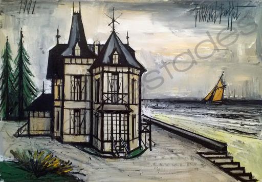 Bernard BUFFET - Gemälde - Villa normande