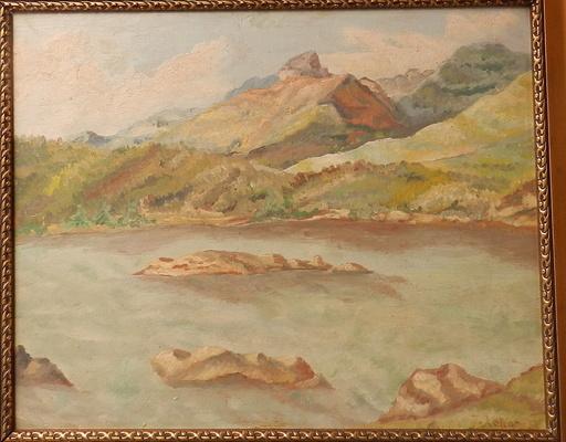 Jozef KOLLAR - Painting - Mountain Landscape