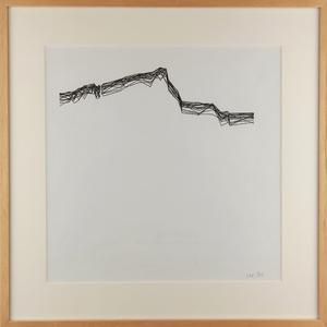 Véra MOLNAR - Drawing-Watercolor - Variation Sainte Victoire