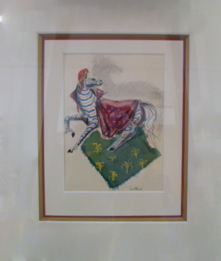 Lucien COUTAUD (Attrib.) - Dessin-Aquarelle - le zebre