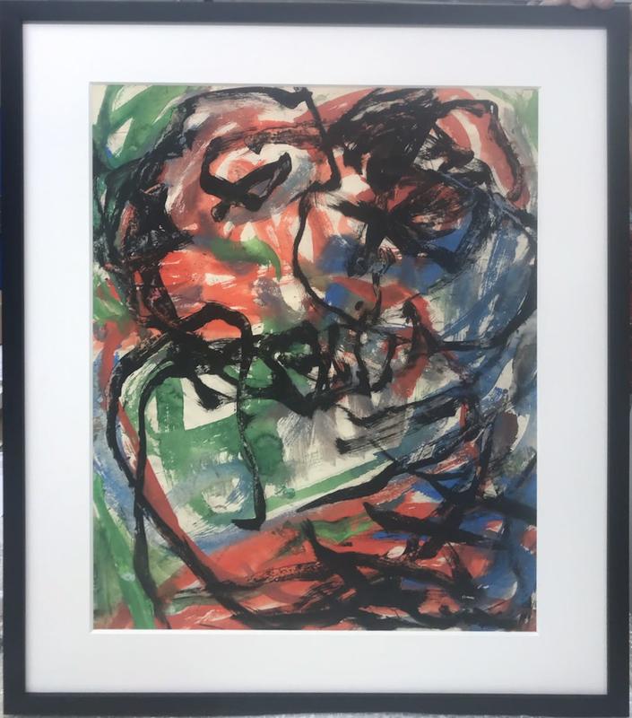 Oswaldo VIGAS - Painting - Apareciente Azul