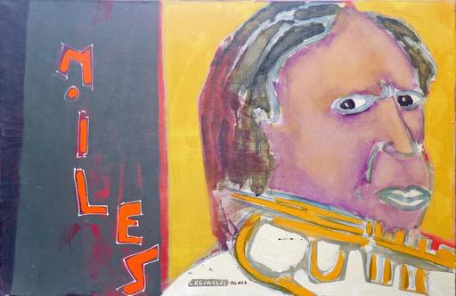 Jean-Pierre CHEVASSUS-AGNES - Painting - portrait MILES DAVIS
