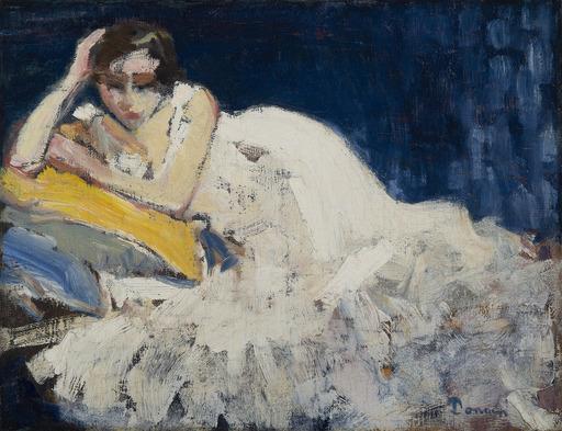 凯斯•凡•东根 - 绘画 - Femme couchée (Guus Van Dongen)